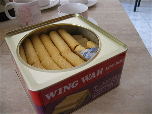 egg roll cookies