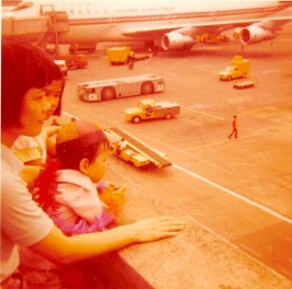 6/19/76: Seeing dad off to the US