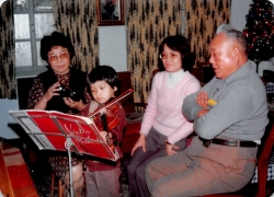 12/23/79: My grandparents (dad's side) supervise my violin-playing