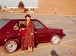 October 1980: My mom's first car, a Dodge Omni