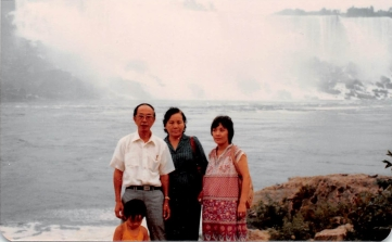 July 1981: My maternal grandparents visit, and we take them to Niagara Falls. My mom is super-pregnant here.