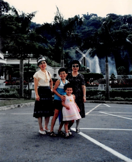 8/16/85: Our first visit back to Taiwan